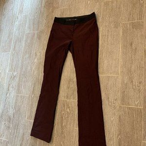 Express Womens Columnist Straight Leg Pants Maroon
